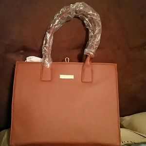 JOY & IMAN Genuine Leather Handbag